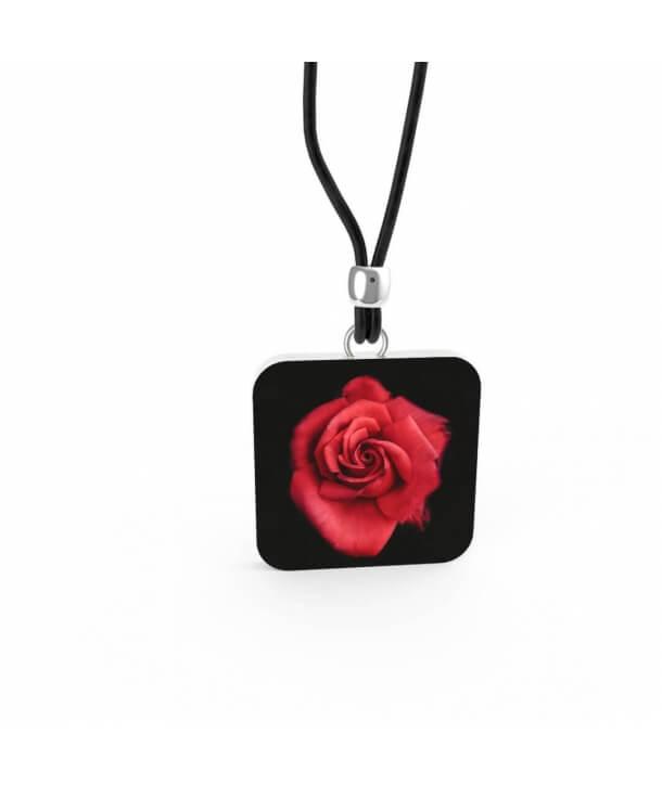 """Red Rose in Dark"" Pendant"