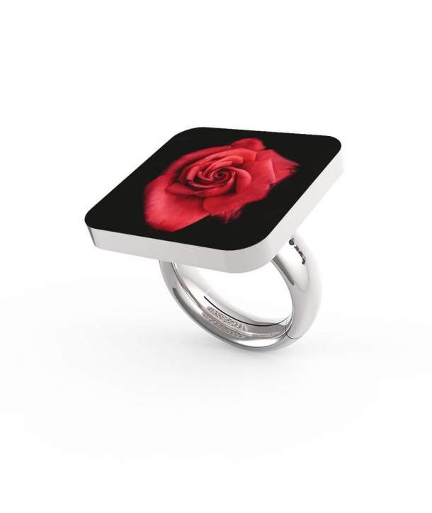 "Anello ""Red Rose in Dark"""