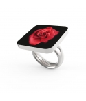 "Anello Personalizzato ""Red Rose in the Dark"""