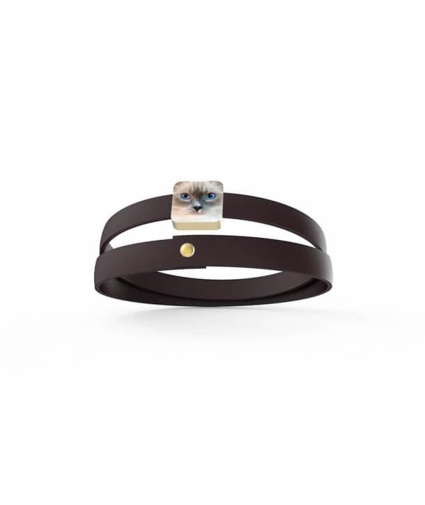 Bracciale personalizzato - Gatto Occhi del Cielo