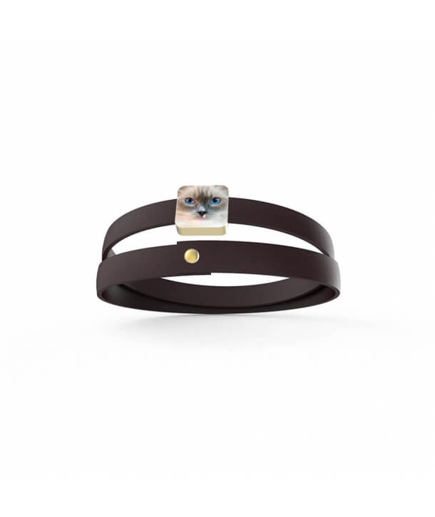 Personalized Bracelet - Cat with Blue sky eyes