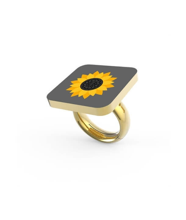 """SUNFLOWER"" RING BY PAOLA DEGREGORI"