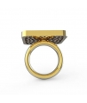 """SUNFLOWER"" RING back BY PAOLA DEGREGORI"