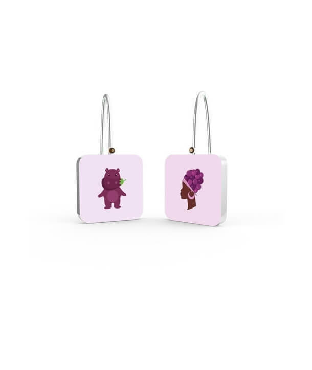 """MAMA AFRICA & HIPPO"" EARRINGS BY PAOLA DEGREGORI"