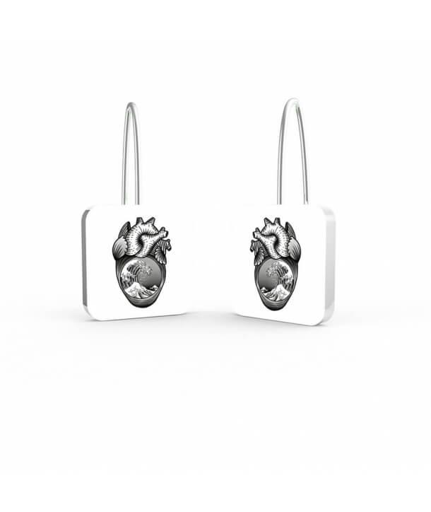 Heart 1 Earrings By Old Skull Tattoo