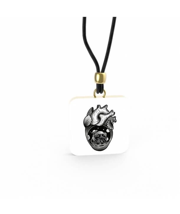 Ciondolo Heart 2 By Old Skull Tattoo