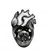 Heart 2 Old Skull Tattoo