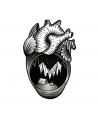 Heart 4 Old Skull Tattoo