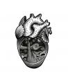 Heart 3 Old Skull Tattoo
