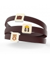 """CREATIVE FOOD"" LEATHER BRACELET BY PAOLA DEGREGORI"