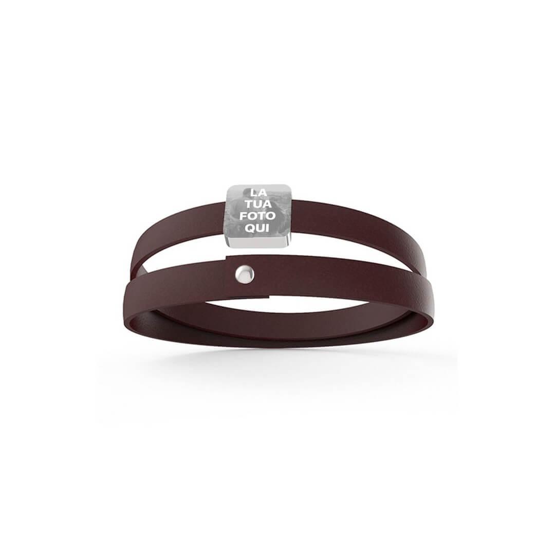 Unisex Leather Bracelet in