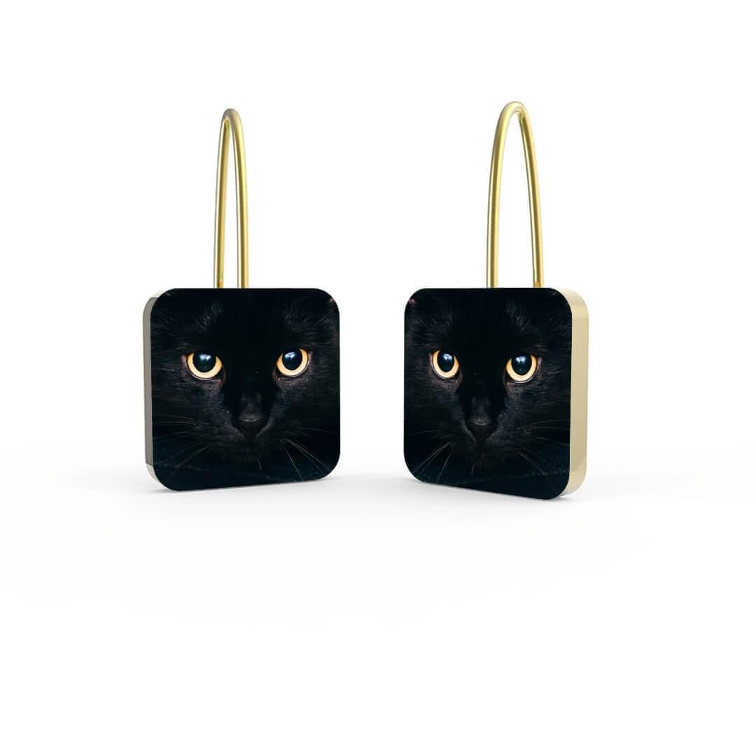 Orecchini Personalizzati Halloween Gatto Nero